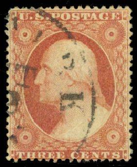 Price of US Stamps Scott Catalogue #25 - 1857 3c Washington. Daniel Kelleher Auctions, Jan 2015, Sale 663, Lot 1248