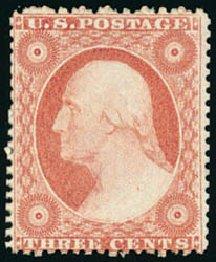 Price of US Stamp Scott Catalogue # 25 - 1857 3c Washington. Schuyler J. Rumsey Philatelic Auctions, Apr 2015, Sale 60, Lot 1969