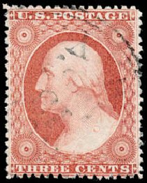 Value of US Stamp Scott 25 - 3c 1857 Washington. Schuyler J. Rumsey Philatelic Auctions, Apr 2015, Sale 60, Lot 1970
