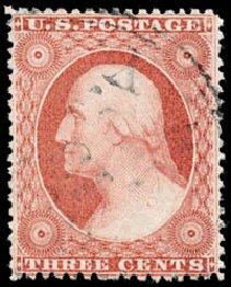 Value of US Stamp Scott 25 - 3c 1857 Washington. Schuyler J. Rumsey Philatelic Auctions, Apr 2015, Sale 60, Lot 1970