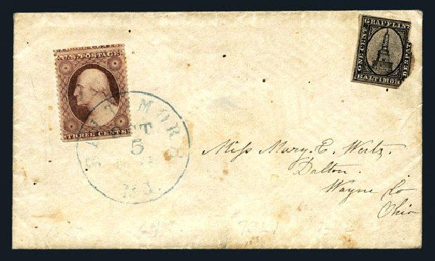 Price of US Stamps Scott 25 - 1857 3c Washington. Harmer-Schau Auction Galleries, Aug 2015, Sale 106, Lot 2191