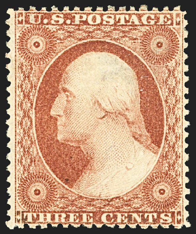 Price of US Stamps Scott Cat. #25: 3c 1857 Washington. Robert Siegel Auction Galleries, Jul 2015, Sale 1107, Lot 82