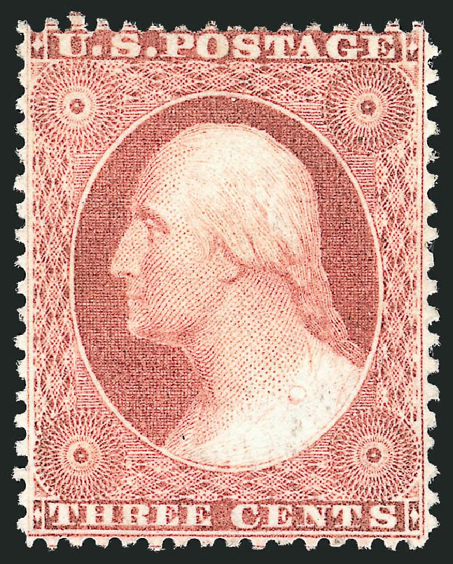 US Stamps Values Scott #25: 3c 1857 Washington. Robert Siegel Auction Galleries, Apr 2015, Sale 1096, Lot 56