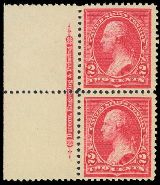 Price of US Stamp Scott Catalogue 250 - 1894 2c Washington. Daniel Kelleher Auctions, Jan 2012, Sale 628, Lot 377