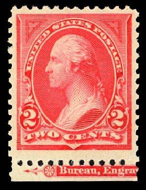 Value of US Stamps Scott Cat. # 250 - 2c 1894 Washington. Daniel Kelleher Auctions, Dec 2012, Sale 633, Lot 468