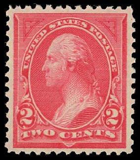 Value of US Stamps Scott Cat. 250 - 2c 1894 Washington. Daniel Kelleher Auctions, Oct 2012, Sale 632, Lot 1160