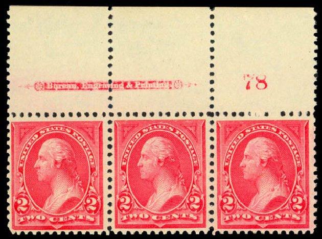 Cost of US Stamp Scott Catalog # 250 - 1894 2c Washington. Daniel Kelleher Auctions, Mar 2013, Sale 635, Lot 371