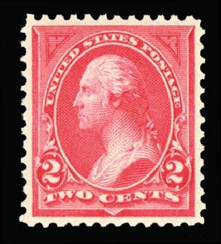 Values of US Stamp Scott 250: 2c 1894 Washington. Cherrystone Auctions, Jul 2013, Sale 201307, Lot 84