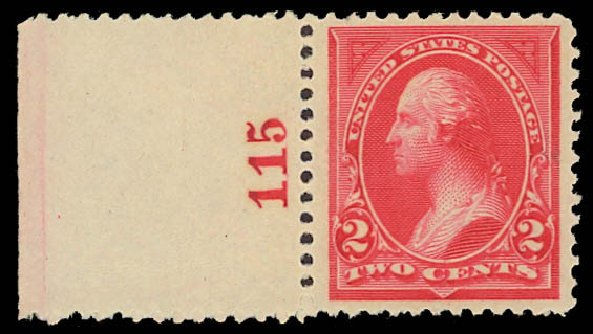 Values of US Stamp Scott Cat. # 250 - 1894 2c Washington. Daniel Kelleher Auctions, Jun 2012, Sale 630, Lot 1574