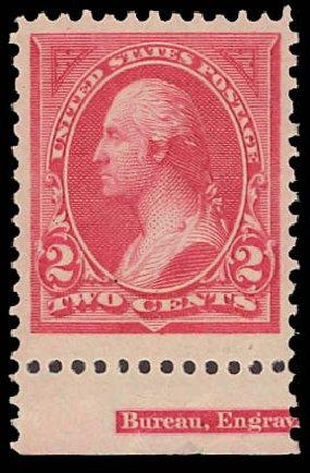 US Stamps Price Scott Catalogue 250 - 2c 1894 Washington. Daniel Kelleher Auctions, Aug 2012, Sale 631, Lot 946