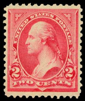 Costs of US Stamp Scott #251 - 2c 1894 Washington. Daniel Kelleher Auctions, May 2014, Sale 652, Lot 398