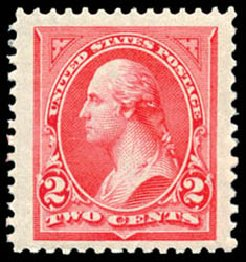 Value of US Stamp Scott Catalog # 251 - 1894 2c Washington. Schuyler J. Rumsey Philatelic Auctions, Apr 2015, Sale 60, Lot 2248