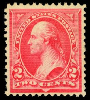 US Stamps Values Scott Cat. 251 - 1894 2c Washington. Daniel Kelleher Auctions, Oct 2014, Sale 660, Lot 2250