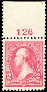 Value of US Stamp Scott Catalog # 251: 1894 2c Washington. Schuyler J. Rumsey Philatelic Auctions, Apr 2015, Sale 60, Lot 2741