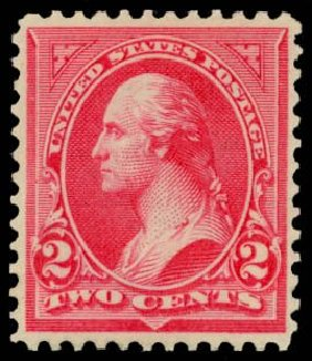 US Stamps Prices Scott Catalogue #251: 2c 1894 Washington. Daniel Kelleher Auctions, May 2014, Sale 653, Lot 2165
