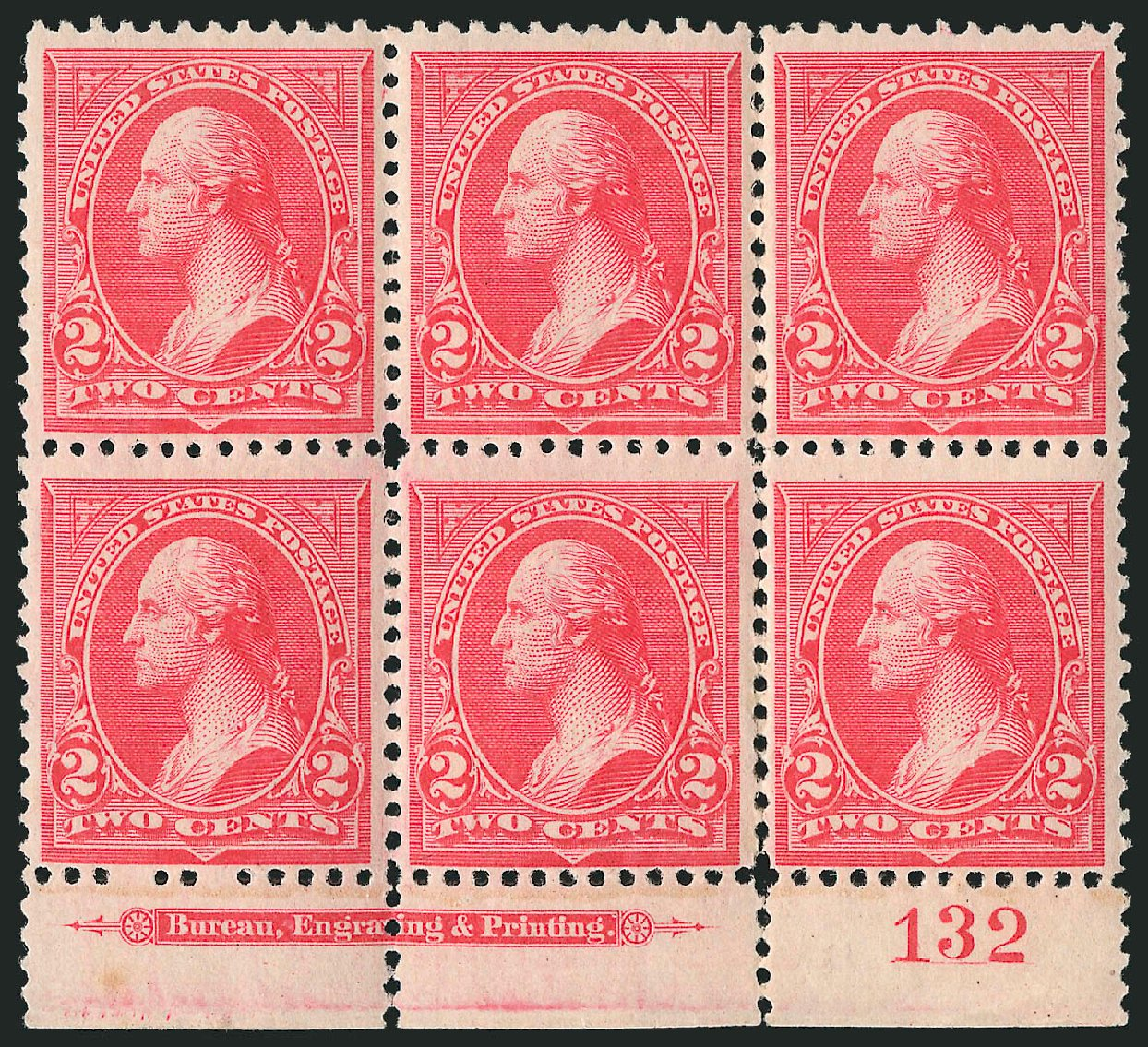 Value of US Stamps Scott 251: 1894 2c Washington. Robert Siegel Auction Galleries, Apr 2015, Sale 1096, Lot 443