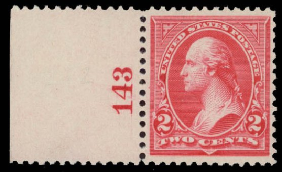 Cost of US Stamp Scott Catalog #252 - 1894 2c Washington. Daniel Kelleher Auctions, May 2015, Sale 669, Lot 2769