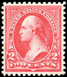 US Stamps Values Scott Catalogue # 252: 2c 1894 Washington. Schuyler J. Rumsey Philatelic Auctions, Apr 2015, Sale 60, Lot 2249