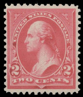 US Stamp Prices Scott Catalog # 252 - 2c 1894 Washington. Daniel Kelleher Auctions, Aug 2015, Sale 672, Lot 2532