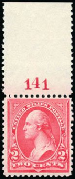 Price of US Stamp Scott Cat. 252: 2c 1894 Washington. Schuyler J. Rumsey Philatelic Auctions, Apr 2015, Sale 60, Lot 2742
