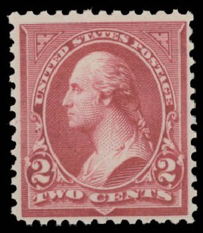 US Stamps Prices Scott Catalog # 252: 2c 1894 Washington. Daniel Kelleher Auctions, Aug 2015, Sale 672, Lot 2533