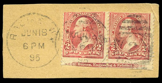 US Stamps Values Scott #252 - 1894 2c Washington. Matthew Bennett International, Feb 2015, Sale 351, Lot 146