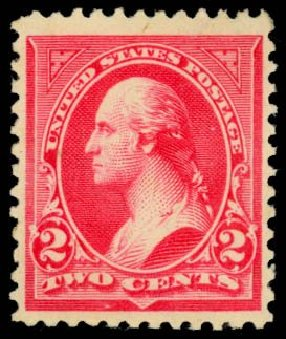 Value of US Stamp Scott Cat. # 252 - 1894 2c Washington. Daniel Kelleher Auctions, May 2014, Sale 653, Lot 2166