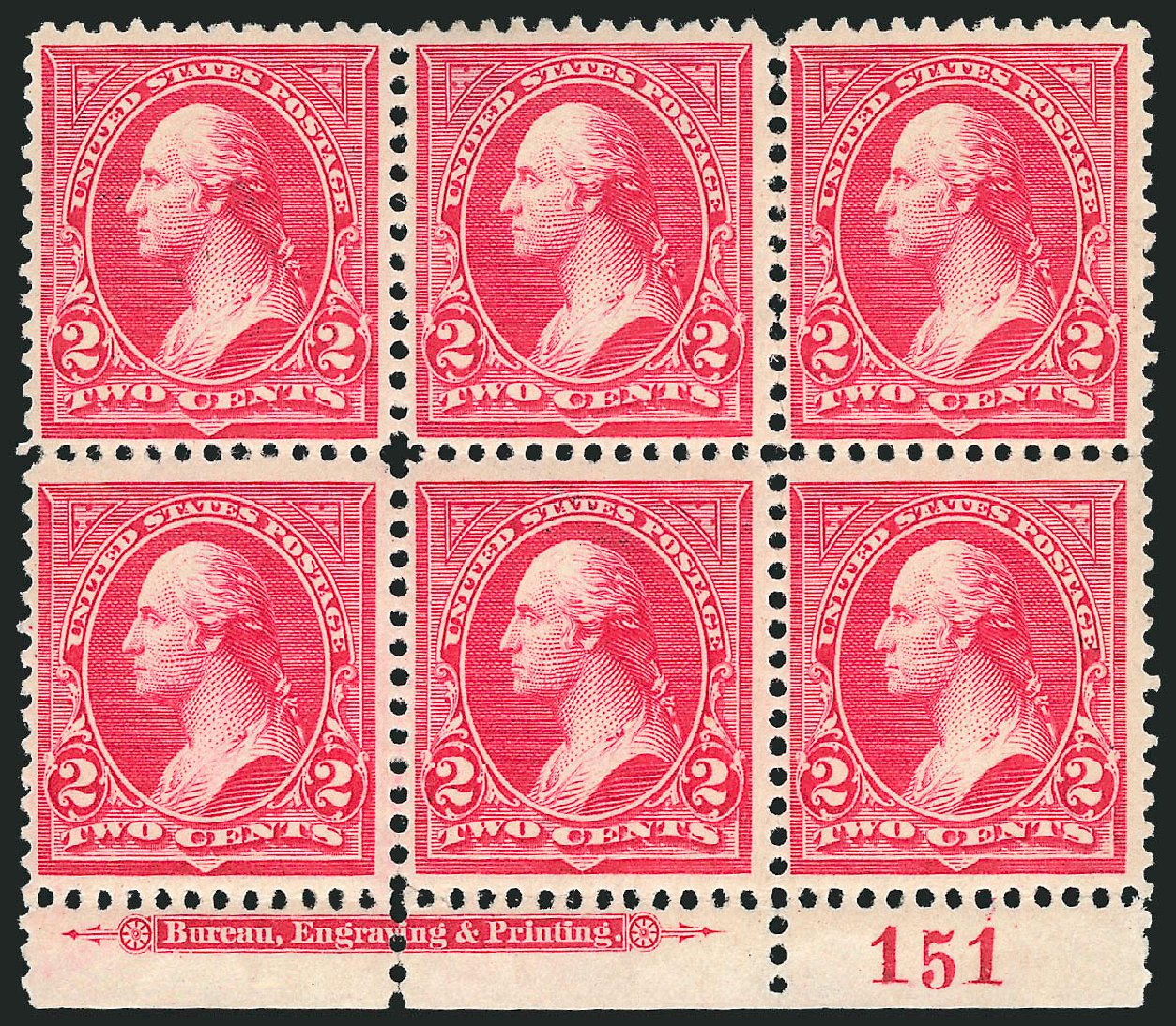 Values of US Stamps Scott Catalogue 252 - 1894 2c Washington. Robert Siegel Auction Galleries, Apr 2015, Sale 1096, Lot 446