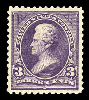 US Stamp Prices Scott Catalog #253 - 1894 3c Jackson. Cherrystone Auctions, Nov 2014, Sale 201411, Lot 57