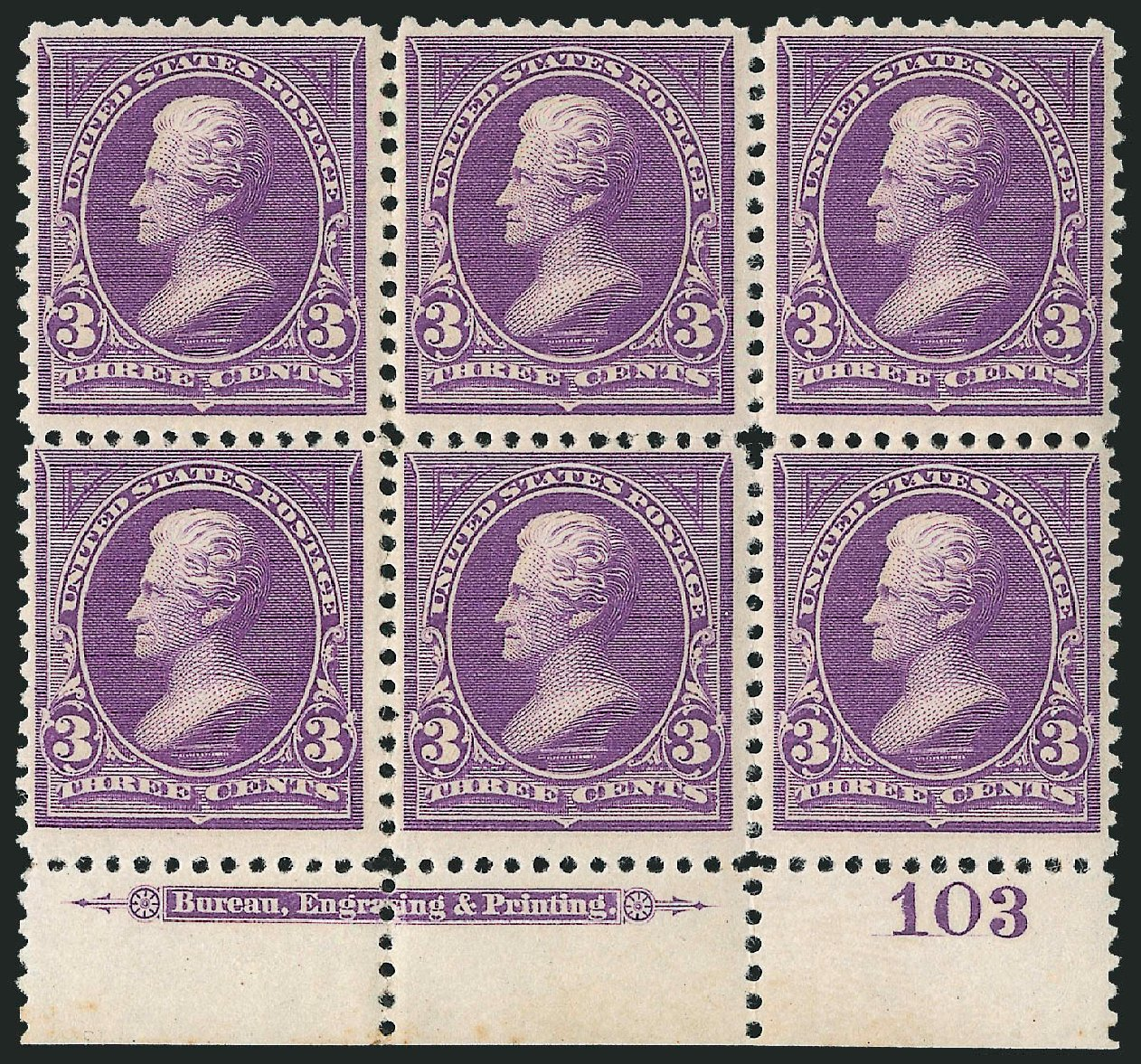 Cost of US Stamp Scott Catalogue #253: 3c 1894 Jackson. Robert Siegel Auction Galleries, Apr 2015, Sale 1096, Lot 447