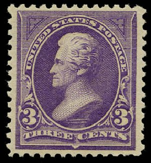 Value of US Stamp Scott # 253 - 3c 1894 Jackson. Daniel Kelleher Auctions, May 2015, Sale 669, Lot 2770