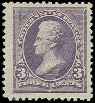 Value of US Stamps Scott Cat. #253: 3c 1894 Jackson. H.R. Harmer, Oct 2014, Sale 3006, Lot 1281