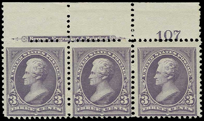 US Stamp Price Scott Catalog 253 - 1894 3c Jackson. H.R. Harmer, Jun 2015, Sale 3007, Lot 3261