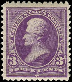 US Stamp Value Scott Catalogue # 253: 3c 1894 Jackson. Regency-Superior, Jan 2015, Sale 109, Lot 961