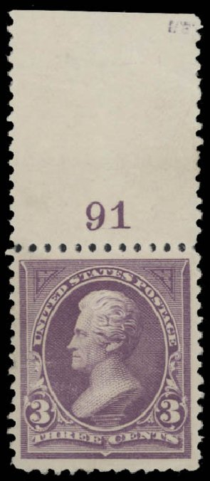 Price of US Stamp Scott Catalog # 253: 3c 1894 Jackson. Daniel Kelleher Auctions, Aug 2015, Sale 672, Lot 2534