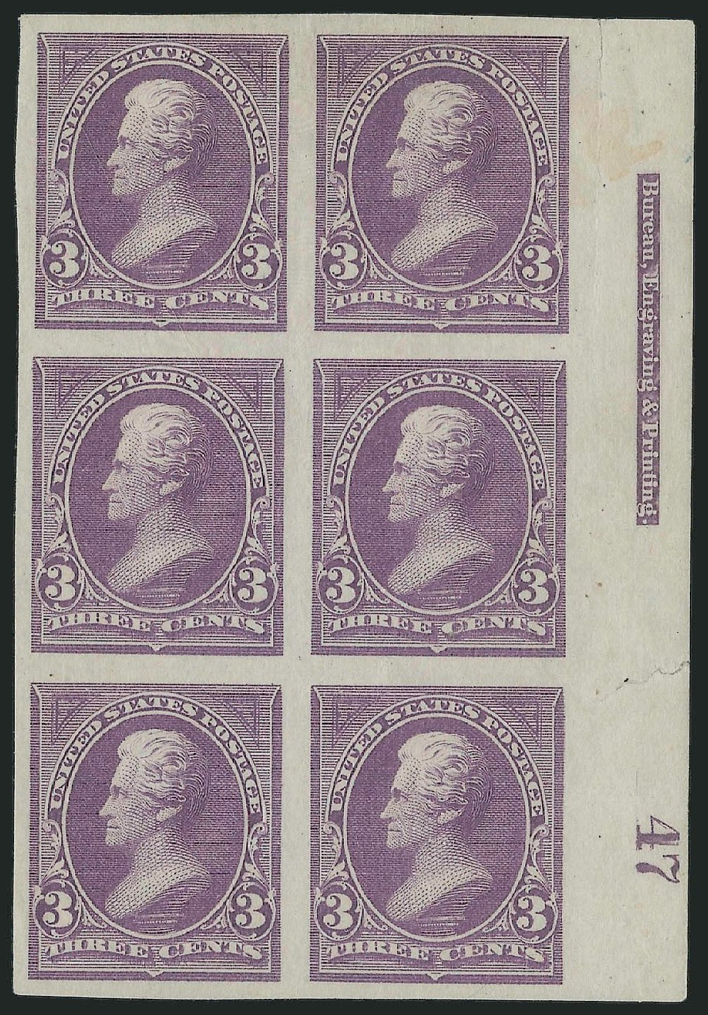 Costs of US Stamps Scott Cat. 253 - 1894 3c Jackson. Robert Siegel Auction Galleries, Sep 2014, Sale 1078, Lot 385