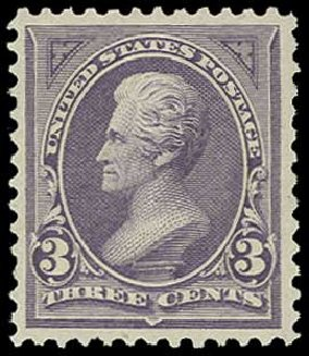 US Stamps Value Scott #253 - 3c 1894 Jackson. H.R. Harmer, Jun 2015, Sale 3007, Lot 3262