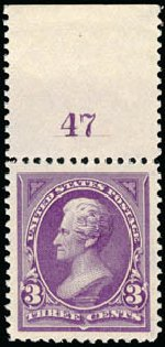 US Stamps Values Scott Cat. 253 - 3c 1894 Jackson. Schuyler J. Rumsey Philatelic Auctions, Apr 2015, Sale 60, Lot 2743
