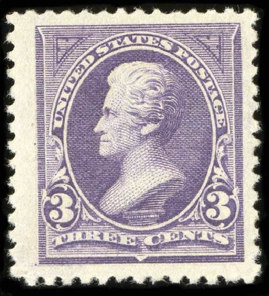 Values of US Stamps Scott Cat. 253: 1894 3c Jackson. Spink Shreves Galleries, Jul 2015, Sale 151, Lot 203