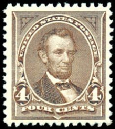 Prices of US Stamps Scott Catalog # 254: 4c 1894 Lincoln. Schuyler J. Rumsey Philatelic Auctions, Apr 2015, Sale 60, Lot 2251