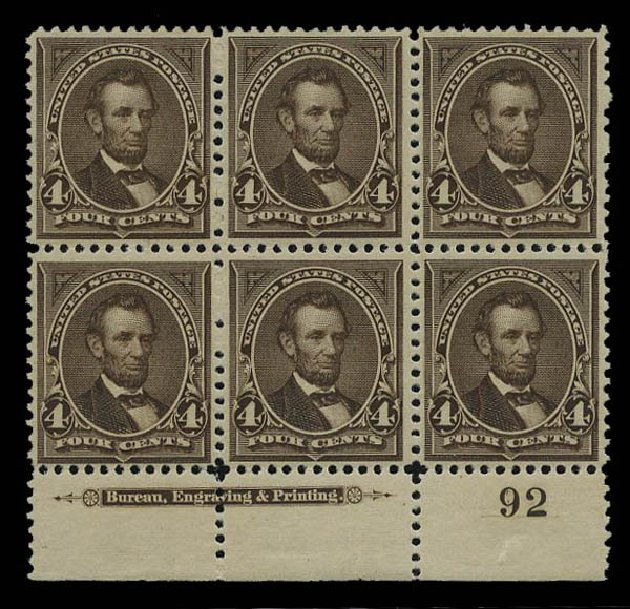 Price of US Stamps Scott #254 - 1894 4c Lincoln. Matthew Bennett International, May 2015, Sale 352, Lot 64