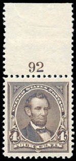 Cost of US Stamp Scott Catalog # 254 - 1894 4c Lincoln. Schuyler J. Rumsey Philatelic Auctions, Apr 2015, Sale 60, Lot 2744