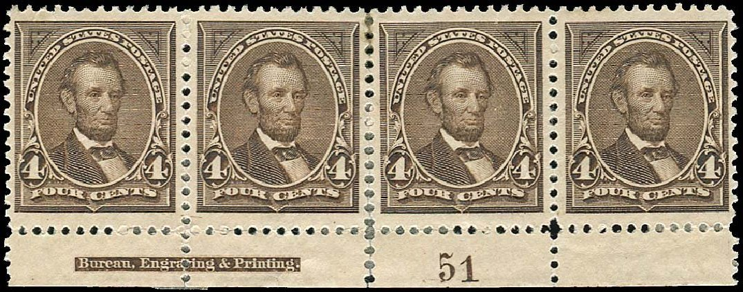 Value of US Stamp Scott 254 - 1894 4c Lincoln. Regency-Superior, Nov 2014, Sale 108, Lot 505