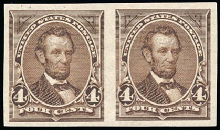 Value of US Stamp Scott Catalog #254: 4c 1894 Lincoln. Schuyler J. Rumsey Philatelic Auctions, Apr 2015, Sale 60, Lot 2252