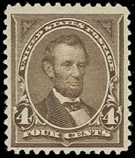 Cost of US Stamps Scott #254 - 4c 1894 Lincoln. H.R. Harmer, Oct 2014, Sale 3006, Lot 1283