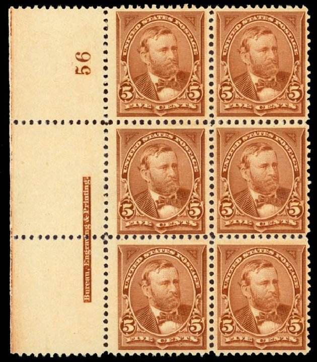 US Stamps Price Scott # 255: 1894 5c Grant. Daniel Kelleher Auctions, Sep 2013, Sale 639, Lot 3348