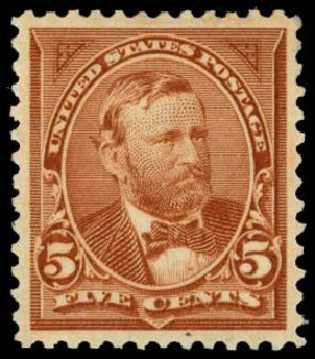 US Stamp Value Scott Catalog #255 - 5c 1894 Grant. Daniel Kelleher Auctions, May 2014, Sale 653, Lot 2169
