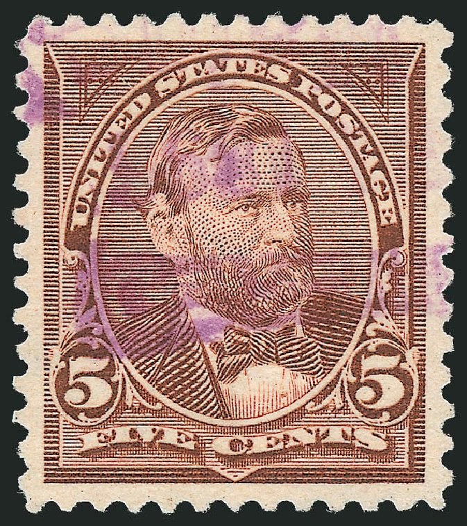 US Stamp Prices Scott Cat. 255: 1894 5c Grant. Robert Siegel Auction Galleries, Oct 2012, Sale 1032, Lot 3369