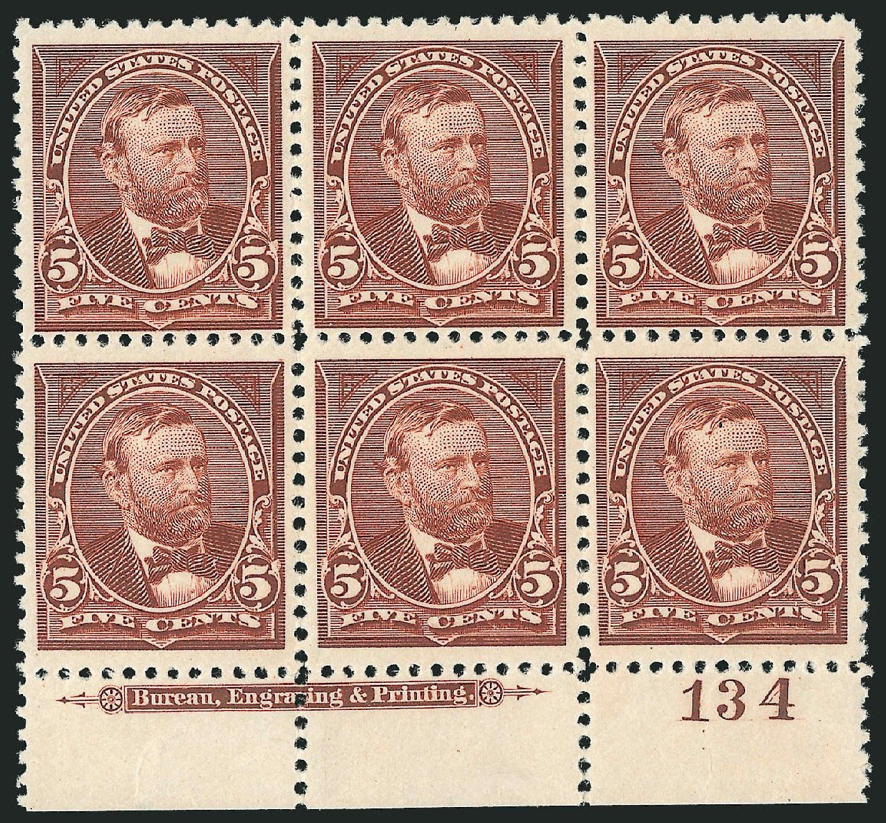 Value of US Stamps Scott Catalogue 255: 5c 1894 Grant. Robert Siegel Auction Galleries, Nov 2014, Sale 1084, Lot 3570