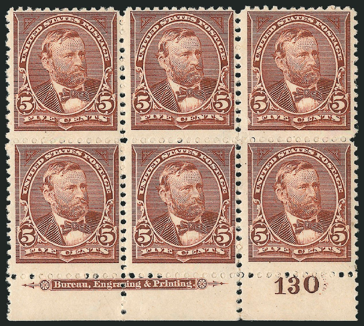 Costs of US Stamp Scott Catalog #255 - 1894 5c Grant. Robert Siegel Auction Galleries, Apr 2015, Sale 1096, Lot 450